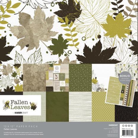 Kaisercraft Paper Pack 12X12 12/Pkg - Fallen Leaves