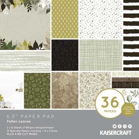 Kaisercraft Paper Pad 6.5X6.5 40/Pkg - Fallen Leaves
