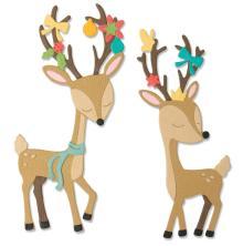 Sizzix Thinlits Dies - Christmas Deer 20-07