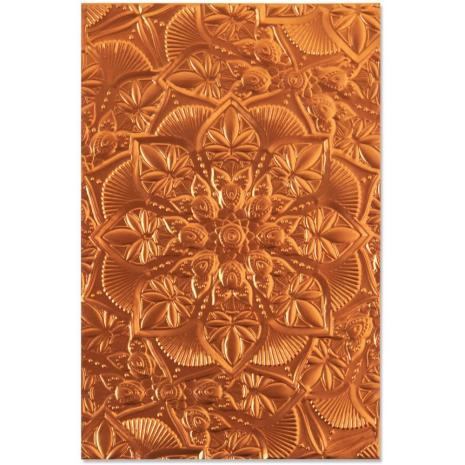 Sizzix 3-D Textured Impressions Embossing Folder - Floral Mandala 20-07