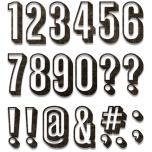Tim Holtz Sizzix Thinlits Dies - Alphanumeric, Shadow Numbers 20-07