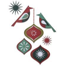 Tim Holtz Sizzix Thinlits Dies - Ornamental Birds 20-07