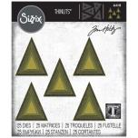 Tim Holtz Sizzix Thinlits Dies - Stacked Tiles Triangles 20-07