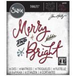 Tim Holtz Sizzix Thinlits Dies - Merry & Bright 20-07