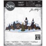 Tim Holtz Sizzix Thinlits Dies - Holiday Village Colorize 20-07
