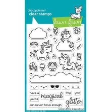 Lawn Fawn Clear Stamps 4X6 - Unicorn Picnic