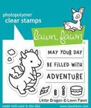 Lawn Fawn Clear Stamps 3X2 - Little Dragon