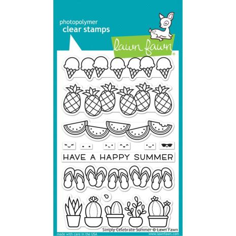 Lawn Fawn Clear Stamps 4X6 - Simply Celebrate Summer