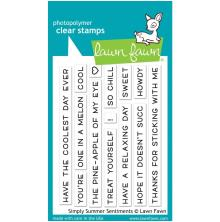 Lawn Fawn Clear Stamps 3X4 - Simply Summer Sentiments