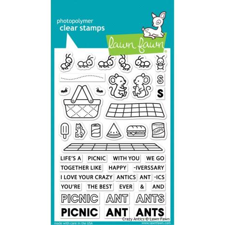 Lawn Fawn Clear Stamps 4X6 - Crazy Antics