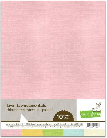 Lawn Fawn Shimmer Cardstock - Pastel