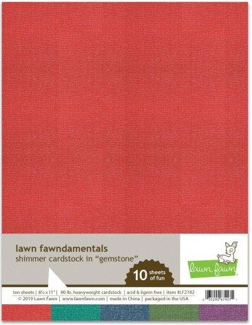 Lawn Fawn Shimmer Cardstock - Gemstone