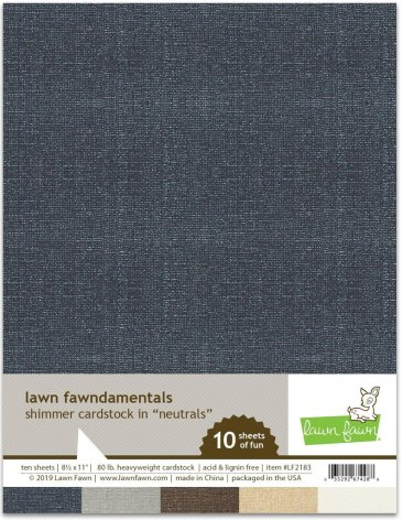 Lawn Fawn Shimmer Cardstock - Neutrals