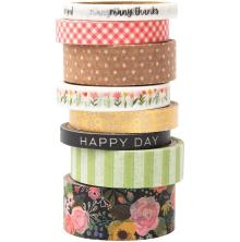 Pebbles Washi Tape 8/Pkg - Lovely Moments