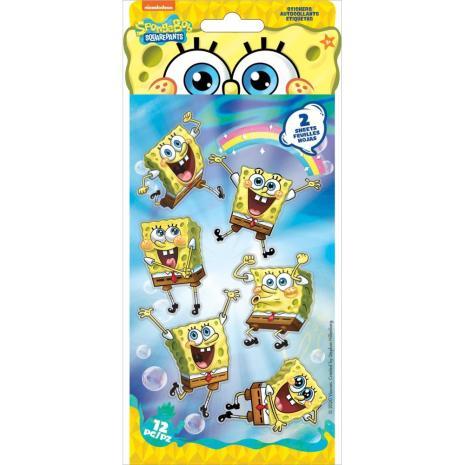 EK Success Nickelodeon Flat Stickers 2/Sheets - SpongeBob