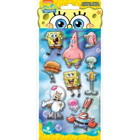 EK Success Nickelodeon Dimentional Stickers 9/Pkg - SpongeBob