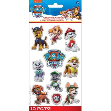 EK Success Disney Nickelodeon Dimensional Stickers 10/Pkg - Paw Patrol