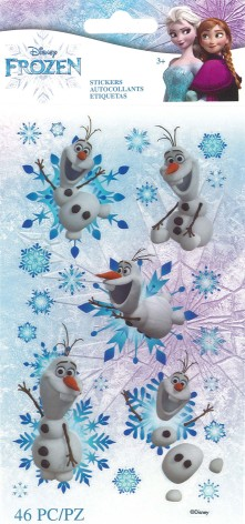 EK Success Disney Frozen Flat Stickers 46/Pkg - Olaf