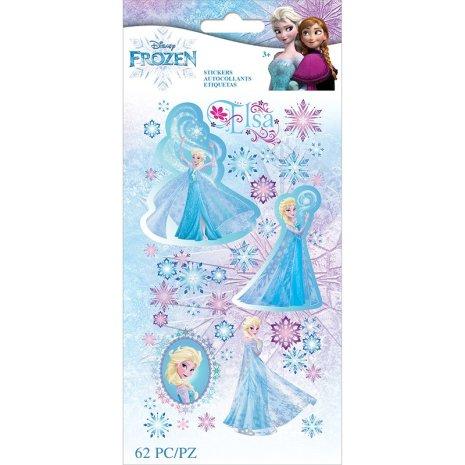 EK Success Disney Frozen Flat Stickers 62/Pkg - Elsa Snowflakes