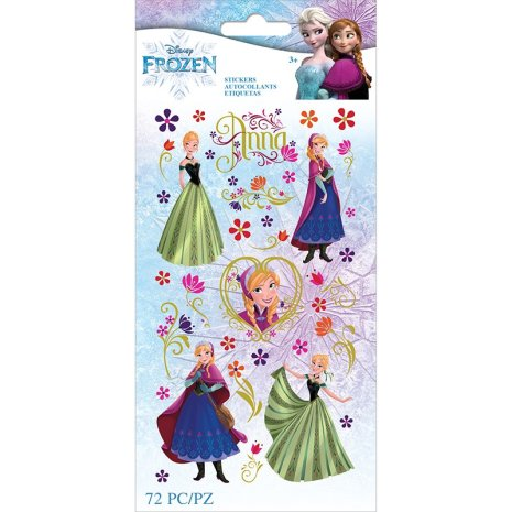 EK Success Disney Frozen Flat Stickers 72/Pkg - Anna Flowers
