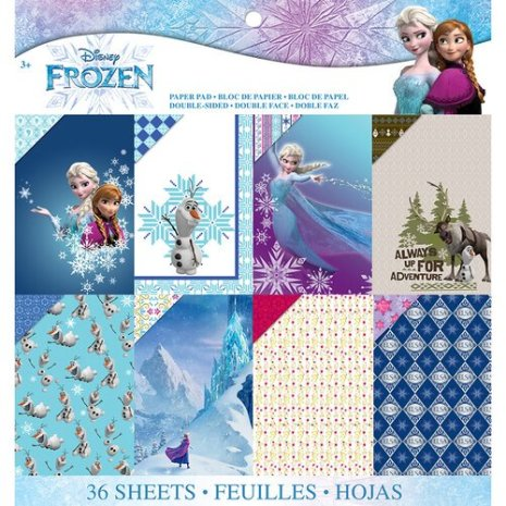 EK Success Disney Paper Pad 12X12 36/Pkg - Frozen