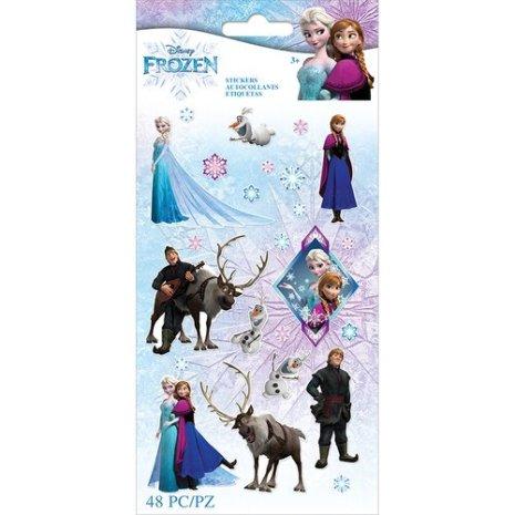 EK Success Disney Frozen Flat Stickers 48/Pkg - Frozen