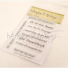 hÄnglar & Wings Clear Stamps - Körkort A7