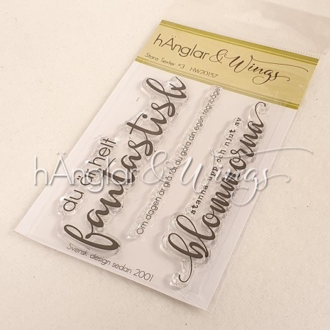 hÄnglar & Wings Clear Stamps - Stora Texter #3 A7
