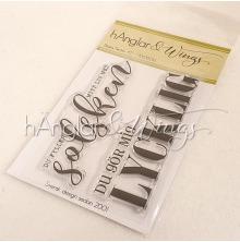 hÄnglar & Wings Clear Stamps - Stora Texter #2 A7