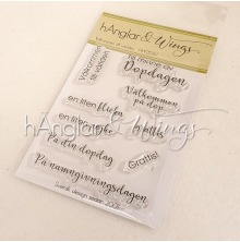 hÄnglar & Wings Clear Stamps - Välkommen till världen A7