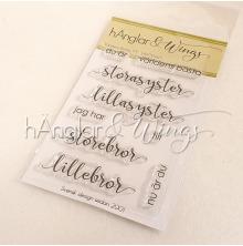 hÄnglar & Wings Clear Stamps - Världens Bästa #3 A7