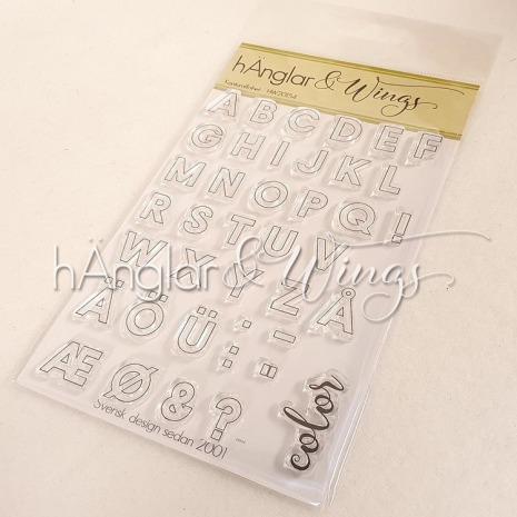 hÄnglar & Wings Clear Stamps - Konturalfabet