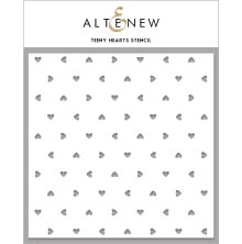 Altenew Stencil 6X6 - Teeny Hearts