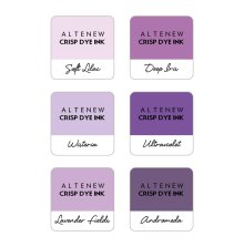 Altenew Dye Inks 6 Mini Cube Set - Lilac Blossoms