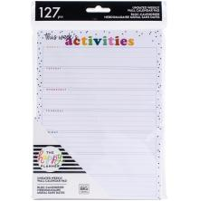 Me & My Big Ideas Undated Weekly Wall Calendar 6X8 - Activities