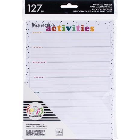 Me & My Big Ideas Undated Weekly Wall Calendar 6X8 - Activities