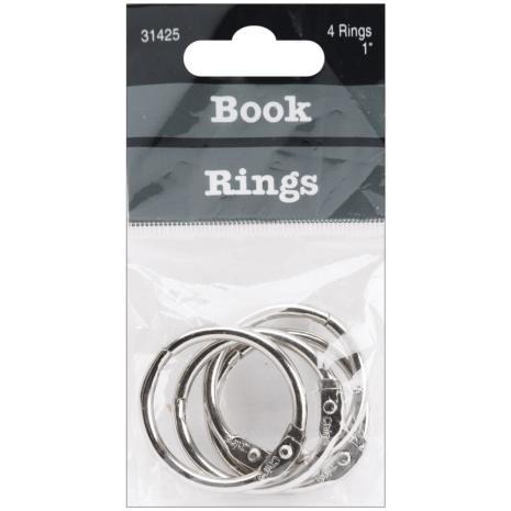 Book Rings 1inch 4/Pkg