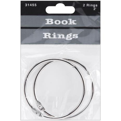 Book Rings 2inch 2/Pkg