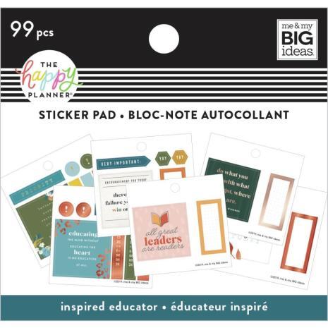 Me & My Big Ideas Happy Planner Tiny Sticker Pad - Inspired Educator