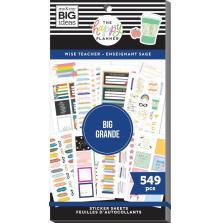 Me & My Big Ideas Happy Planner Sticker Value Pack - Wise Teacher BIG
