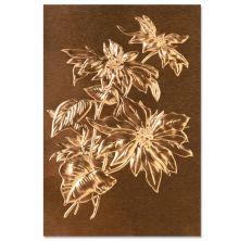 Tim Holtz Sizzix 3-D Texture Fades Embossing Folder - Poinsettia
