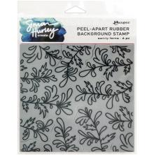 Simon Hurley create. Background Stamp 6X6 - Swirly Ferns