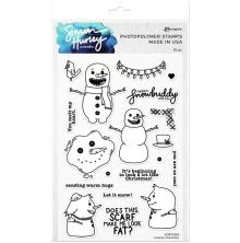 Simon Hurley create. Clear Stamps 6X9 - Snazzy Snowmen