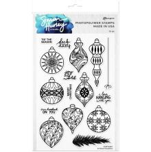Simon Hurley create. Clear Stamps 6X9 - Brilliant Baubles