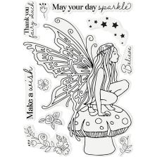 Gemini Character-Over-The-Edge Stamp & Die - May Your Day Sparkle