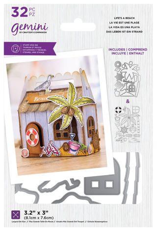 Gemini Decorative Box Stamp & Die - Life is a Beach