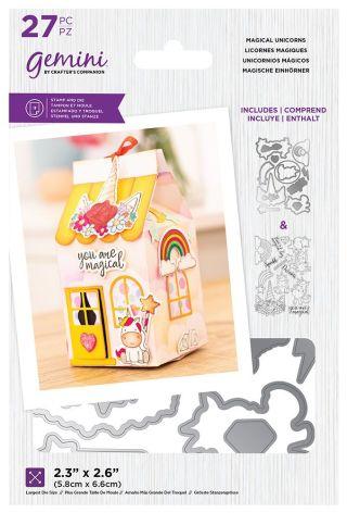 Gemini Decorative Box Stamp & Die - Magical Unicorns