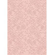 Sara Signature Rose Gold Embossing Folder - Rose Blooms