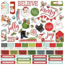 Simple Stories Simple Vintage North Pole Sticker Sheet 12X12 - Combo