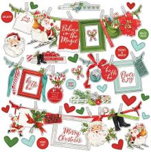 Simple Stories Simple Vintage North Pole Sticker Sheet 12X12 - Banners